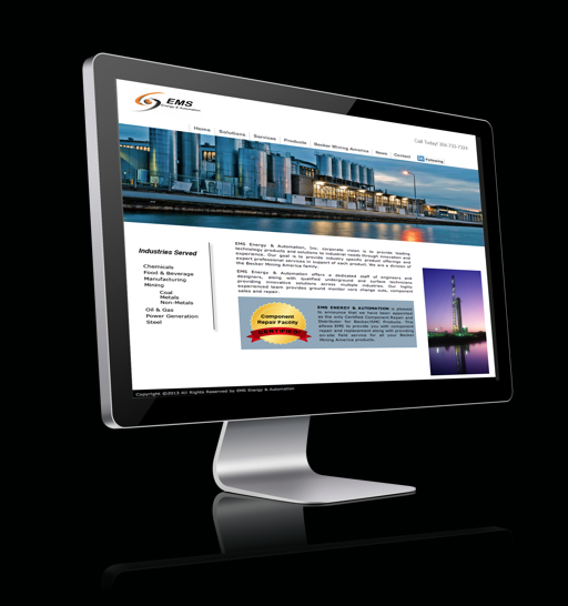 energy company website design