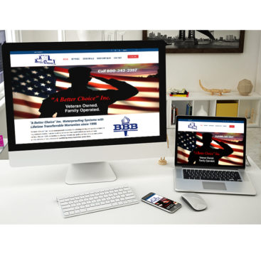 A Better Choice, Inc web design project in Irwin, Pa